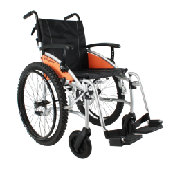 "Excel G-Explorer Self Propel All Terrain Wheelchair Silver Frame 18"" Standard Seat"