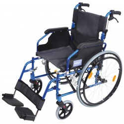 A* Deluxe Lightweight Self Propelled Wheelchair Blue Frame