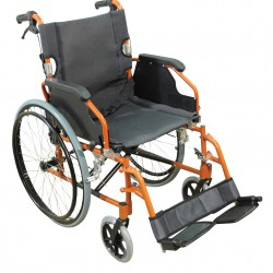 A* Deluxe Lightweight Self Propelled Wheelchair Orange Frame