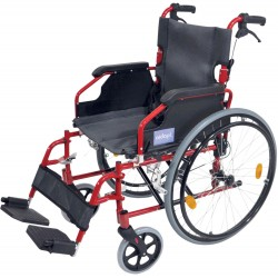 A* Deluxe Lightweight Self Propelled Wheelchair Red Frame
