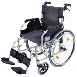 A* Deluxe Lightweight Self Propelled Wheelchair Silver Frame