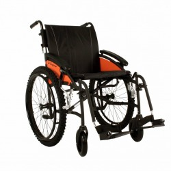 "Excel G-Explorer Self Propel All Terrain Wheelchair Black Frame 20"" Wide Seat"
